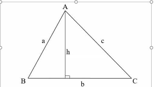 diện tích tam giác khi biết cạnh đáy và chiều cao