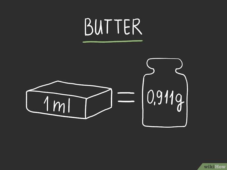 1g bơ bằng bao nhiêu ml?